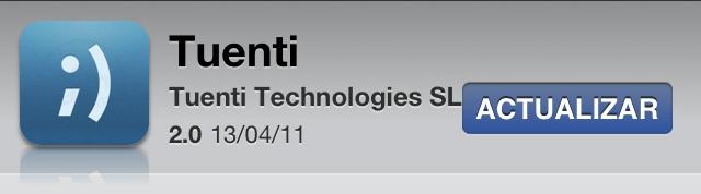 Tuenti para iPhone versión 2.0 1