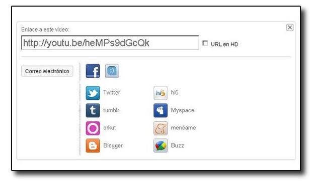 YouTube también permite URL cortas 1