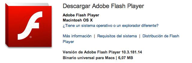 Flash Player 11.1 para Mac OS X 4