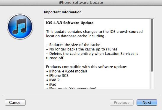 Descarga iOS 4.3.3 para iPhone, iPad y iPod touch 1