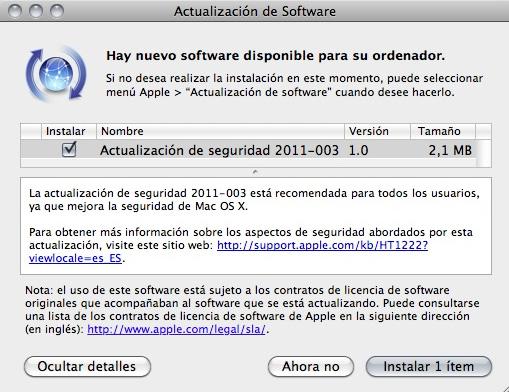 Apple lanza actualización que elimina el Malware MacDefender 7