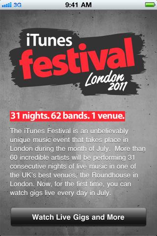 Disponible para descarga la aplicación oficial del iTunes Festival Londres 2011 1