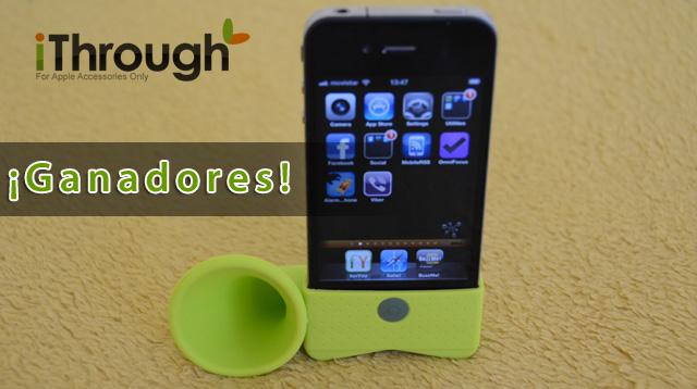 Ganadores del sorteo Horn Stand para iPhone 6