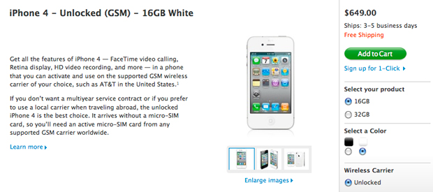 Apple ya vende el iPhone 4 libre en los Estados Unidos 1