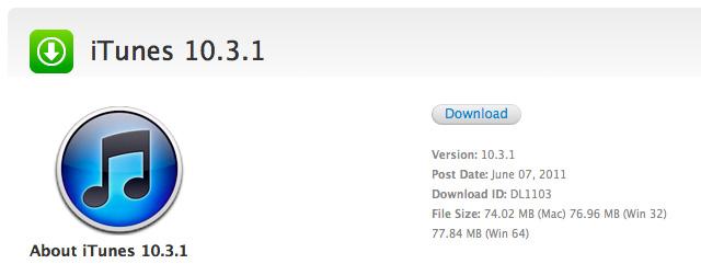 Descarga iTunes 10.3.1 para Mac OS X y para Windows 1