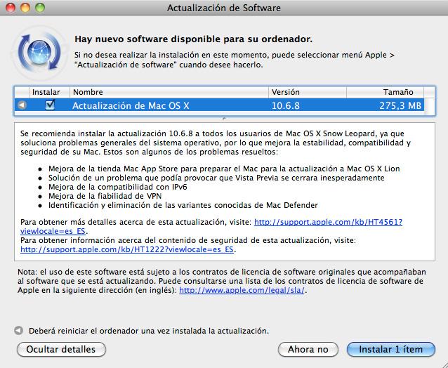 Descarga Mac OS X 10.6.8 Snow Leopard 7