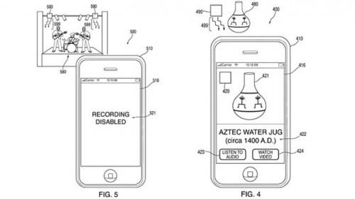 Nueva patente de Apple evitaría la grabación y captura de imágenes en el cine y conciertos 1
