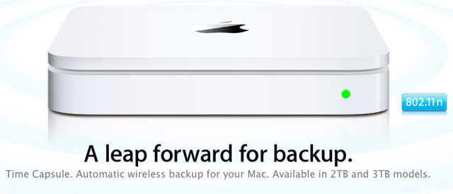 Apple actualiza la capacidad de Time Capsule, ahora a 2TB 3