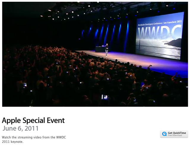 Video oficial de la WWDC 2011 disponible en Apple 8