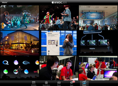 Aplicación de la conferencia WWDC 2011 para iPhone y iPad 2