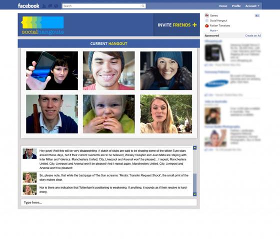 ¿Hangouts en Facebook? 1