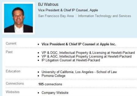 Abogado de Apple, responsable de defender las patentes de la compañía, abandona su puesto 1