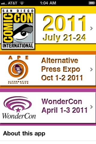 Descarga la aplicacion de la convención anual de cómics – Comic Con 10