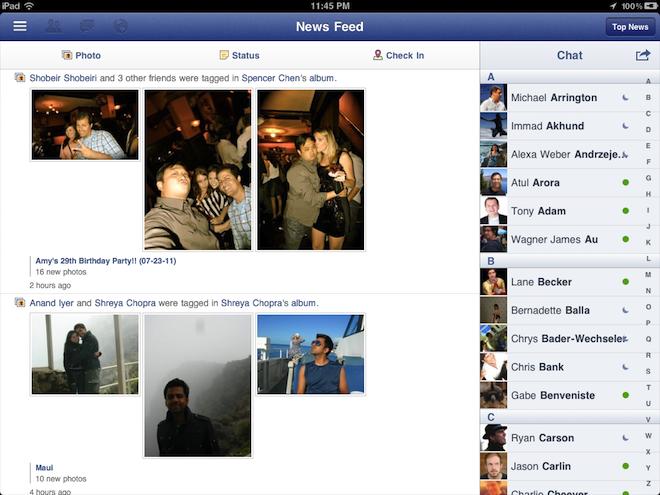 Se filtran primeras imágenes de Facebook para iPad 3