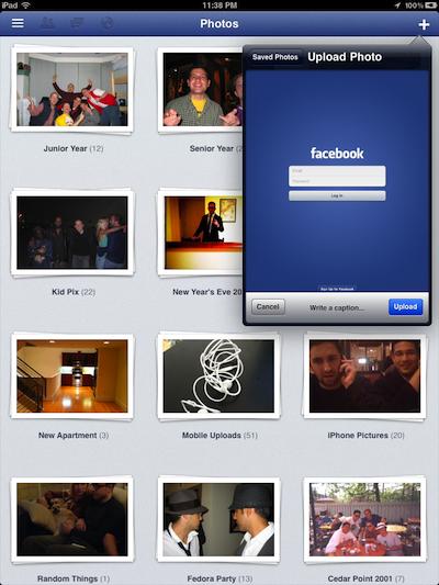 Se filtran primeras imágenes de Facebook para iPad 2