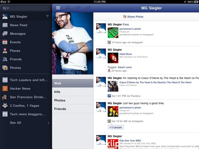 Se filtran primeras imágenes de Facebook para iPad 1