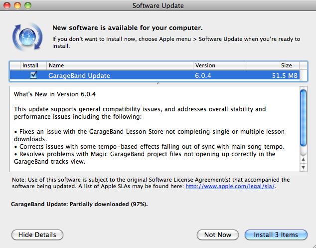 Descarga GarageBand 6.0.4 1