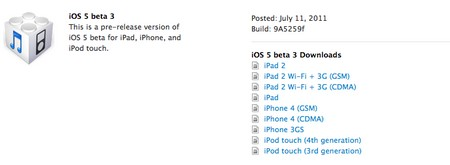 iOS 5 beta 3 disponible para desarrolladores 1