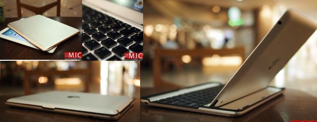 Convierte tu iPad 2 en una MacBook Air gracias a un teclado de aluminio de MIC Gadget  1