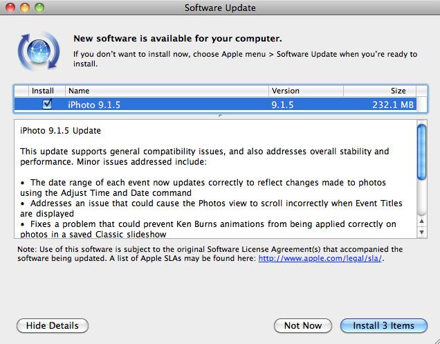 Descarga iPhoto 9.1.5 1
