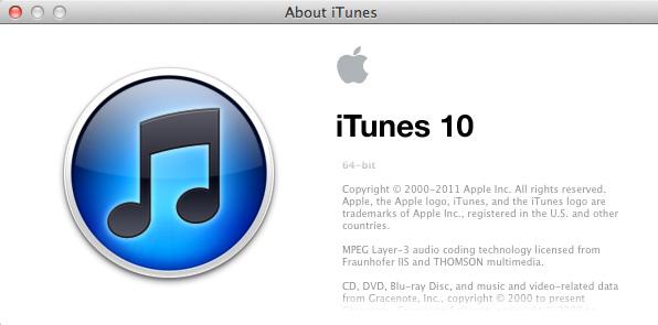 Descarga iTunes 10.4 1