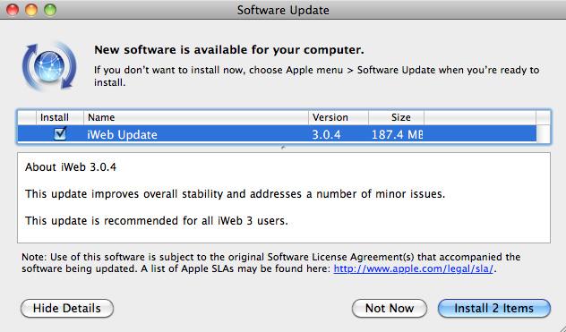 Descarga iWeb 3.0.4 1