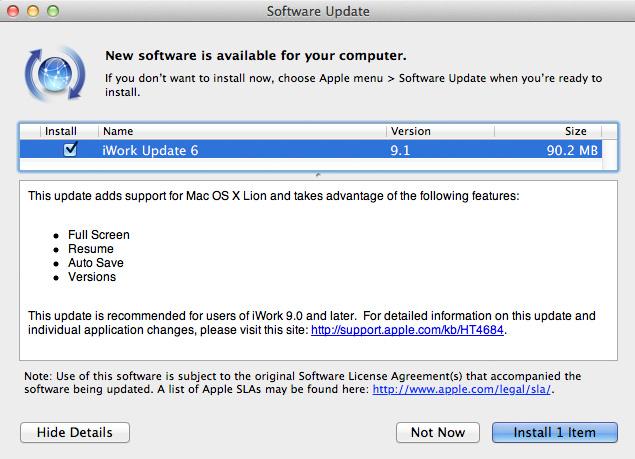 Keynote, Pages y Numbers para OS X Yosemite con iCloud Drive 2