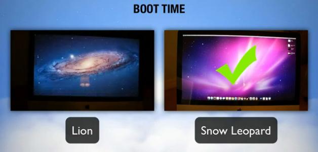 Prueba de velocidad de Mac OS X Snow Leopard vs Mac OS X Lion