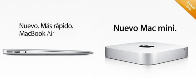 Macbook Air y Mac mini con procesadores Sandy Bridge y puerto Thunderbolt 2