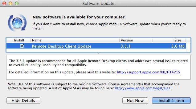 Remote Dektop cliente versión 3.5.1 1