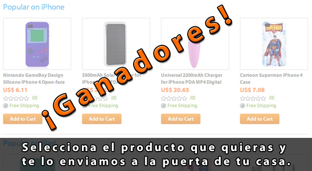 Ganadores del sorteo 1 de productos Apple con ithrough.com 1