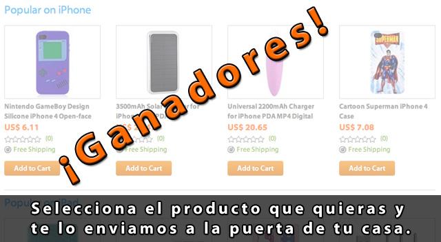 Ganadores del sorteo 1 de productos Apple con ithrough.com 2