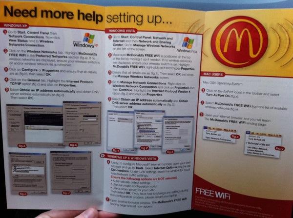 Guía para configurar el Wi-Fi en un McDonalds 1