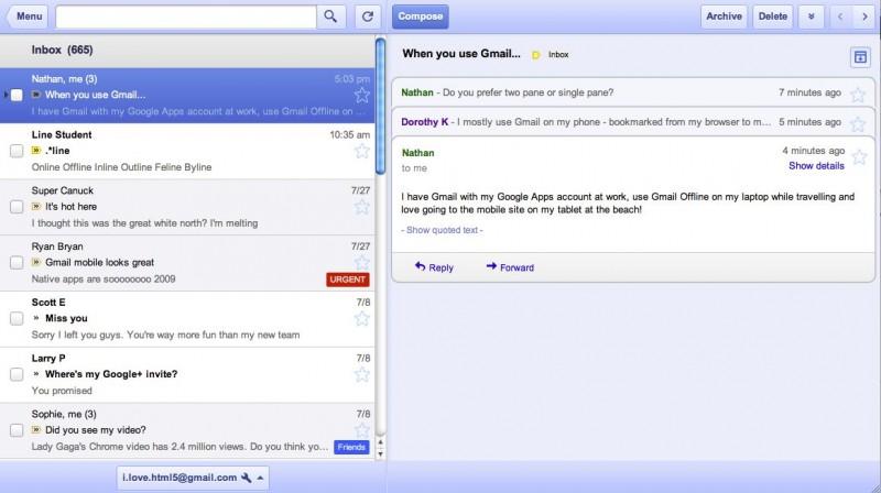 Gmail Offline desde Google Chrome 1