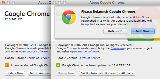 Google Chrome 13 para Mac OS X 1
