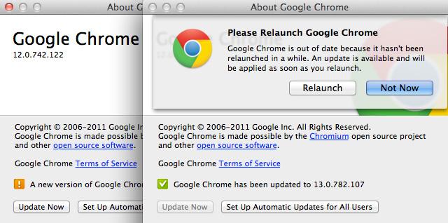 Google Chrome 13 para Mac OS X 1