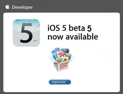 La beta 5 de iOS 5 está disponible para desarrolladores 5