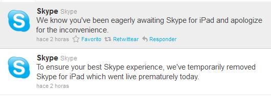 Skype para iPad hace magia, llega y desaparece de la App Store 3