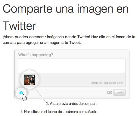 Twitter ya integra la posibilidad de subir imágenes desde su web 1