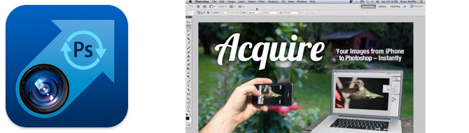 Acquire toma fotografías desde iOS directo en Photoshop CS5