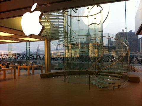 Apple abre las puertas de su nueva tienda en Hong Kong