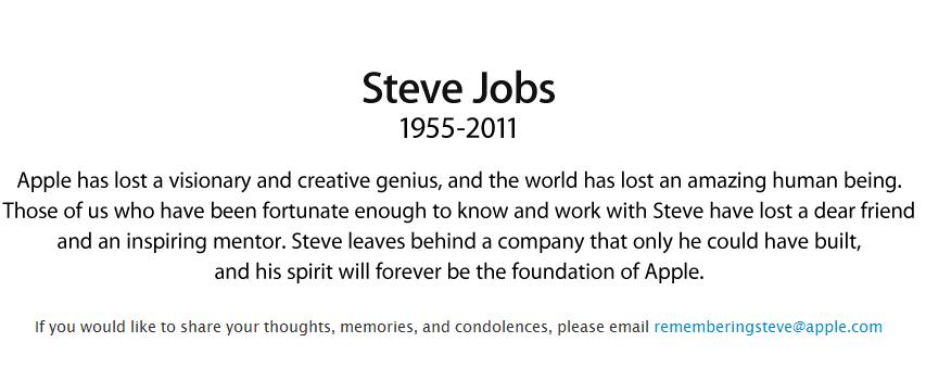 Gracias Steve, Gracias por todo. 8