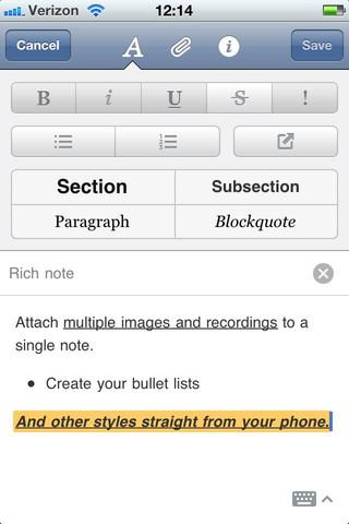Descarga Evernote para iPhone, iPod Touch e iPad, Versión 4.1.6 3
