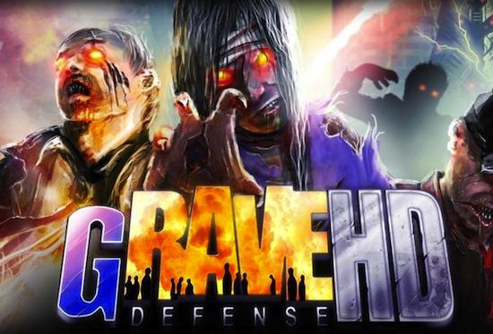 Descarga GRave Defense HD para iPad e iPhone, 20 niveles llenos de zombies  2