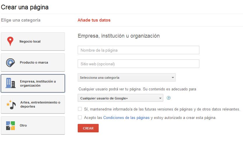 Google+ para marcas ya está disponible 1