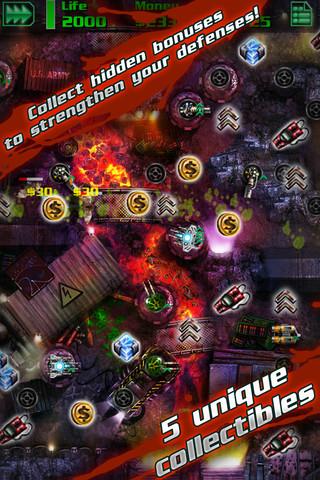 Descarga GRave Defense HD para iPad e iPhone, 20 niveles llenos de zombies  4
