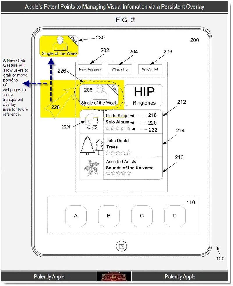 Apple registra la patente de una nueva interfaz gráfica para iOS 10