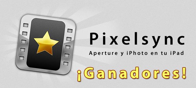 Ganadores de licencias de Pixelsync para iPad 2