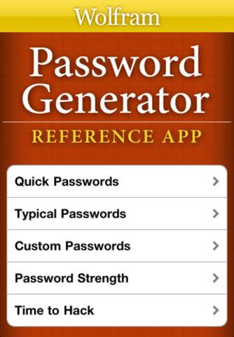 Descarga la aplicación Wolfram Password Generator Reference, crea contraseñas seguras 1