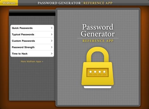 Descarga la aplicación Wolfram Password Generator Reference, crea contraseñas seguras 3